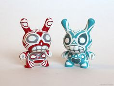 Gray-Eye Totem 3-inch Dunny Pair - Front