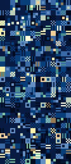 Russfussuk Digital Ocean geometric repeating pattern #Pattern #patterndesign #patternprint #geometric #shapes #squares