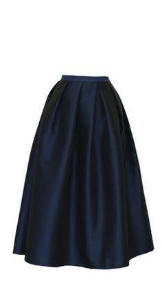 Tibi Simona Jacquard full skirt in Navy <3  Like the soft, smooth pleats of this skirt. The length is great, and could be worn with lots of different tops.