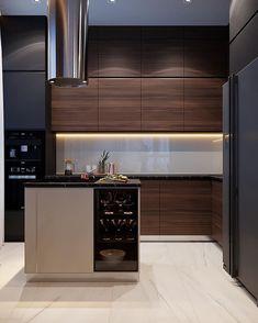 Modern Home Interior Design to Your Kitchen Design Loft Interior, Modern Home Interior Design, Luxury Kitchen Design, Kitchen Room Design, Kitchen Cabinet Design, Kitchen Paint, Home Decor Kitchen, Home Kitchens, Modern Kitchen Interiors