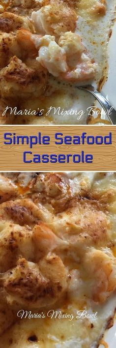 Nutritious Snack Tips For Equally Young Ones And Adults The Simplest Yest Our Favorite Seafood Casserole. The Garlic And Cream Bring This All Together In A Delicious Brothy Sauce. I Just Love This Casserole Recipe. I Got The Recipe From A Local Restaurant Fish Recipes, Seafood Recipes, Great Recipes, Cooking Recipes, Favorite Recipes, Seafood Casserole Recipes, Recipies, Shrimp Casserole, Chicken Recipes