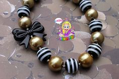 black gold necklace chunky necklace toddler by AKidsDreamBoutique