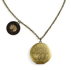 E.E. Cummings Locket necklace - Mrs Smileys, Hardtofind