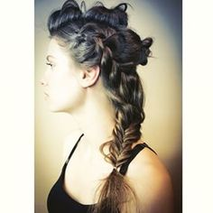 Mix your styles up with a combo of braids and buns.   18 Ways To Get Perfect Festival Hair