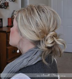 pony tail thin hair | so throw that hair up and rock the messy bun!