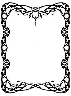Art Nouveau Border 2 by Anarielhime on DeviantArt Art Deco Borders, Motif Art Deco, Art Nouveau Design, Arabesque, Alphonse Mucha Art, Jugendstil Design, Calligraphy Drawing, Borders And Frames, Art Clipart