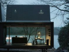 """Described by Vipp's CEO as a """"a battery-charging station for humans"""" the 'Shelter' is designed to be placed in the wilderness for the inhabitants to relax in natural surroundings."""
