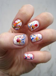 These jawbreaker-inspired nails look sweet enough to eat. Love.