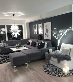 Looks like so comfortable and chic... I always like making combination black objects and furniture in my living room ...