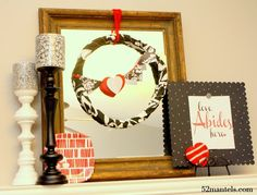 52 Mantels: What's Black & White & Red Allover?