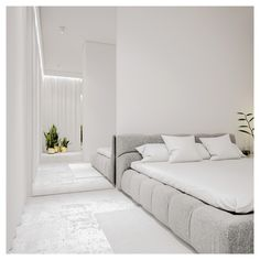 White minimalist spaces that make you forget everything about color – Modern Apartment Decoration Ideas Master Bedroom Design, Home Bedroom, Modern Bedroom, Bedroom Decor, Bedrooms, Minimalist Bedroom, Minimalist Home, Minimalist Apartment, Modern Apartment Decor
