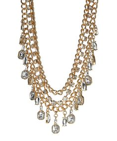 $18.99 Look at this #zulilyfind! Crystal & Gold Cascade Necklace #zulilyfinds