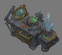 Crafting stations and resource node props I've concepted and built for Battle Chasers: Night War. These were a lot of fun to make. Also quite amazing to see them come to life in game with the help of our amazing animators. Battle Chasers, Game Props, Environment Design, Portfolio, The Help, War, Night, Crafting, Artwork