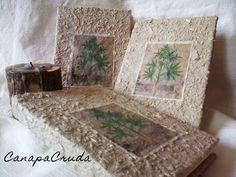 tavola botanica su carta di canapa notebook 11x15 cm