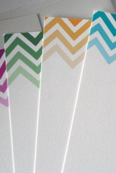 Ombre Chevron... could use this in so many ways