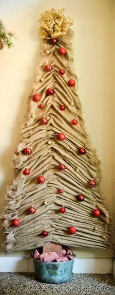 Burlap tree I made for Christmas :)