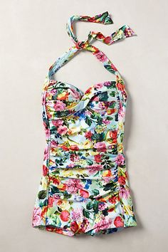 Seafolly Summer Garden Boyleg Maillot #anthropologie #anthrofave