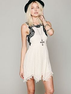Free People Lace Dream Dress:  I love this!  Burfday dress?