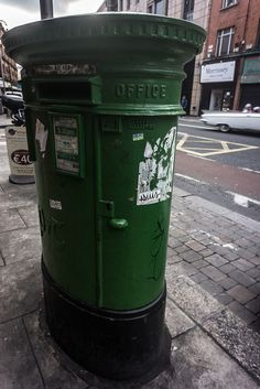 Green Letterbox On Fade Street (Dublin)