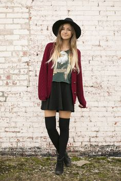 How I Style: Over The Knee Socks (part 3) Gorgeous Style:) needing ideas for over the knee socks!