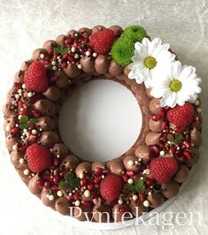 PynteKagen: Colorful cake with chocolate mousse and flowers and fresh berries (like the letter and number cakes we see all around right now)