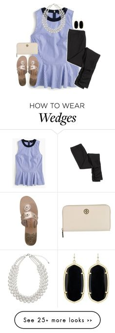"""""""So nervous/excited for tomorrow!!"""" by disneyfashionedits on Polyvore featuring J.Crew, American Eagle Outfitters, John Lewis, Tory Burch, Kendra Scott and Jack Rogers"""
