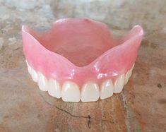 Dentures by Gregdents on Etsy Perfect Teeth, Perfect Smile, Affordable Dentures, Full Set Acrylic, Dental Veneers, Veneers Teeth, Tooth Replacement, Front Teeth, Dental Bridge