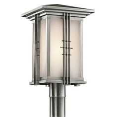 Kichler-49163-Stainless-Steel-Asian-Oriental-Single-Light-Large-Outdoor-Post-L