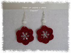 Orecchini ad uncinetto by https://www.facebook.com/CreareconpassioneeamoreCreazioni/ … … … … … … … … … #crochet #handmade #earrings #jewelry