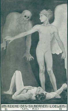 """Sascha Schneider, 1870–1927  """"Im Reiche des silbernen Löwen III"""" von Karl May"""