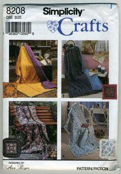 4 Quilt Pillow Pocket Patterns Simplicity Sewing 8208 Quillow Throw | TexasPrairieRose - Craft Supplies on ArtFire