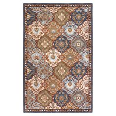 Hand-tufted wool rug with a floral trellis motif.  Product: RugConstruction Material: 100% WoolColor: