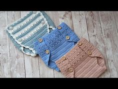 Love Crochet, Crochet For Kids, Crochet Top, Joining Crochet Squares, Baby Romper Pattern, Baby Suit, Crochet Baby Clothes, Baby Knitting, Couture