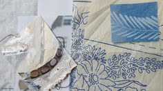 studio gatherings and silver collage artwork