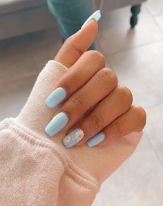 In look for some nail designs and some ideas for your nails? Listed here is our set of must-try coffin acrylic nails for trendy women. Simple Acrylic Nails, Acrylic Nails Coffin Short, Blue Acrylic Nails, Coffin Nails, Nail Pink, Aycrlic Nails, Yellow Nails, Classy Nails, Stylish Nails
