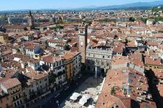 An exciting view at the top in Verona, Italy