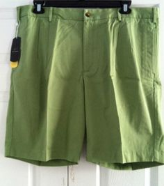 Greg Norman Golf Shorts Men's 40 Cactus Green NWT