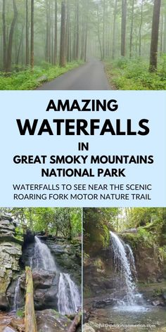This is a list of great waterfalls in Great Smoky Mountains National Park - US vacation spots