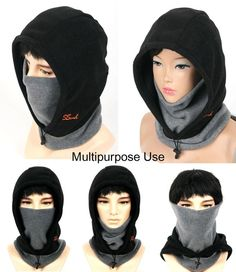 NEW Black BALACLAVA Full Face Mask Neck Warmer Hood Outdoor Winter Sports 3 in 1 Style. POLICE SWAT SKI SNOWBOARD WIND PROOF FACE MASK. Center strap & Elastic Mask allows for a closer fit. To protect your face, ears and neck, this black neck face mask is ideal. | eBay!
