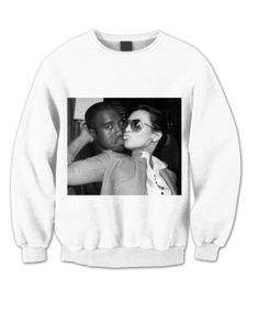 KANYE WEST & KIM KARDASHIAN #sweatshirt #shirt #sweater #womenclothing #menclothing #unisexclothing #clothing #tups