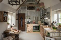 Cosy open plan living area and kitchen