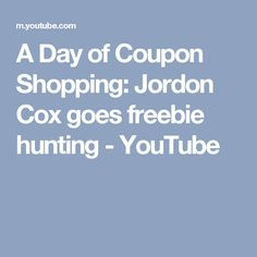 A Day of Coupon Shopping: Jordon Cox goes freebie hunting - YouTube