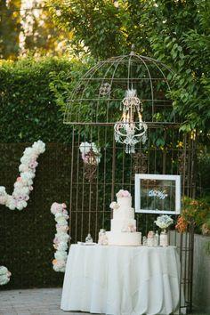 wedding cake with chanderlier