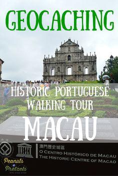 Geocaching the Historic Portuguese Walking Tour in Macau - Peanuts or Pretzels Travel