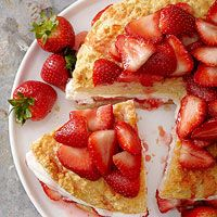 Best Strawberry Shortcake from BHG: Prepared as a layer cake instead of individual shortcakes, it's a showstopping dessert for summer!