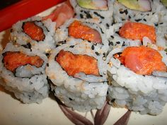 "My absolute favorite sushi roll is the spicy Tuna Roll. ""Drool.""...................."