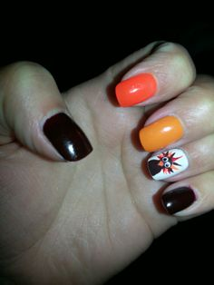 Thanksgiving nail design :)