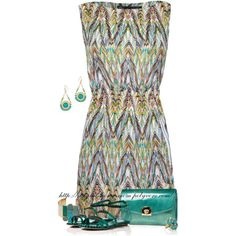 Abstract Zig Zag Dress, created by stay-at-home-mom on Polyvore
