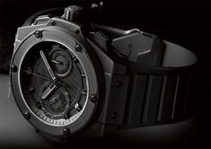 """Hublot Big Bang King Power """"Black on Black"""" Stylish Watches, Cool Watches, Watches For Men, Black Watches, Hublot King Power, Hublot Watches, Art Of Manliness, Expensive Watches, Watch Companies"""