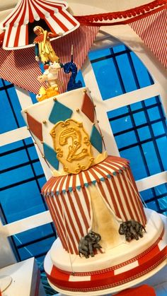 Amazing cake at a Circus Birthday Party!  See more party ideas at CatchMyParty.com!
